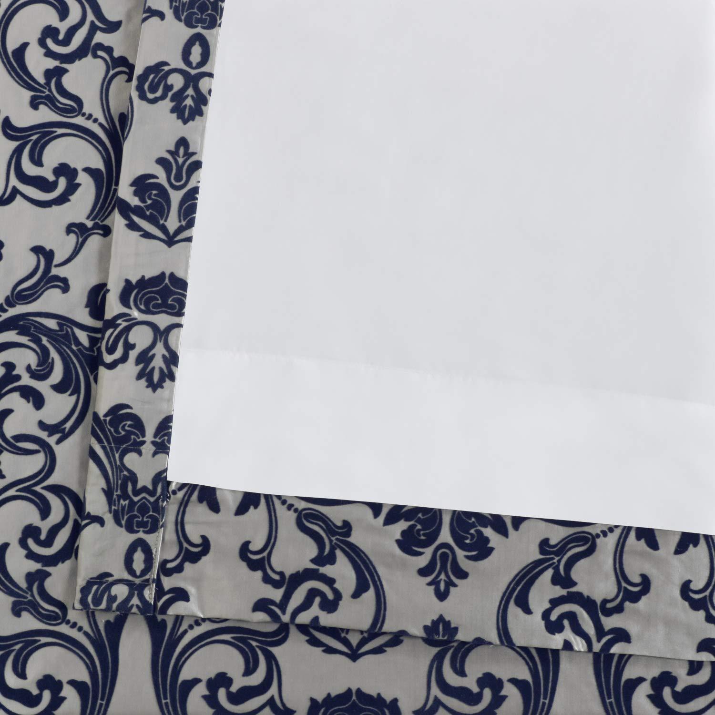 50 x 108 Exclusive Fabrics /& Furnishings Silver /& Gold Half Price Drapes PTFFLK-C7E-108 Firenze Flocked Faux Silk Curtain