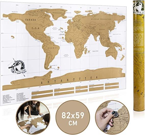 1 Uds mapa del mundo para rascar Mapa del viaje borrable ...