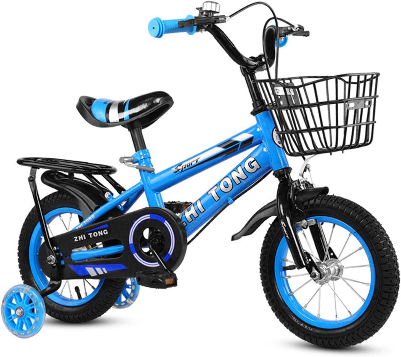 Roeam Bicicleta para niños de 12/14/16 Pulgadas, Bicicleta para niños y niñas, Bicicleta para niños de Altura Ajustable con Cesta Desmontable para 2-7 años