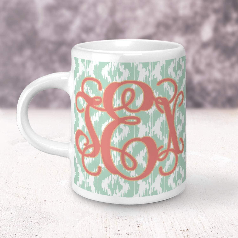 Amazon Com Monogram Espresso Cup Single Personalized Coffee Cups Mugs