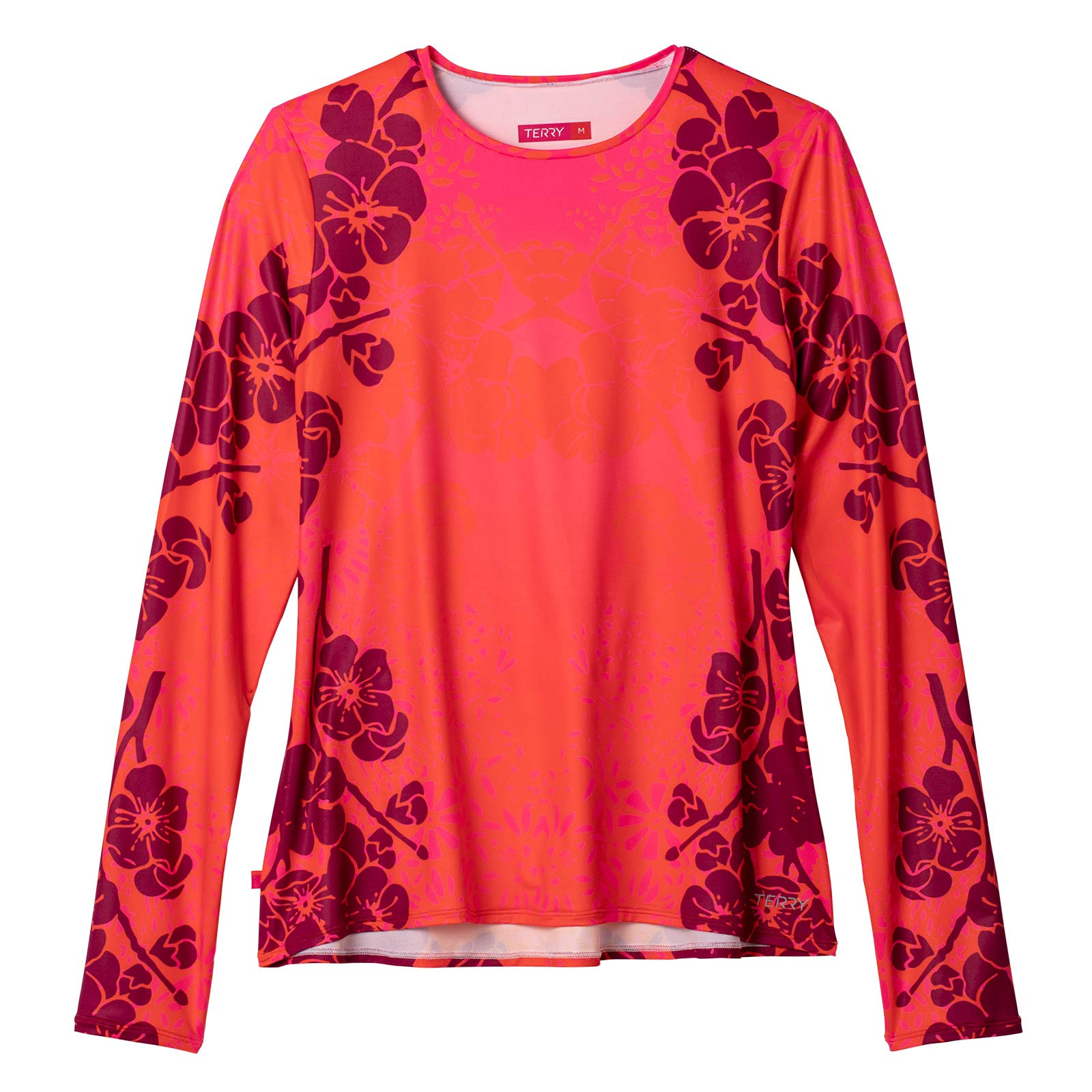 Terry Women's Soleil Flow Long Sleeve Athletic Top Loose Fit UPF 50+ Protection Lightweight - Haleakala - Large by Terry