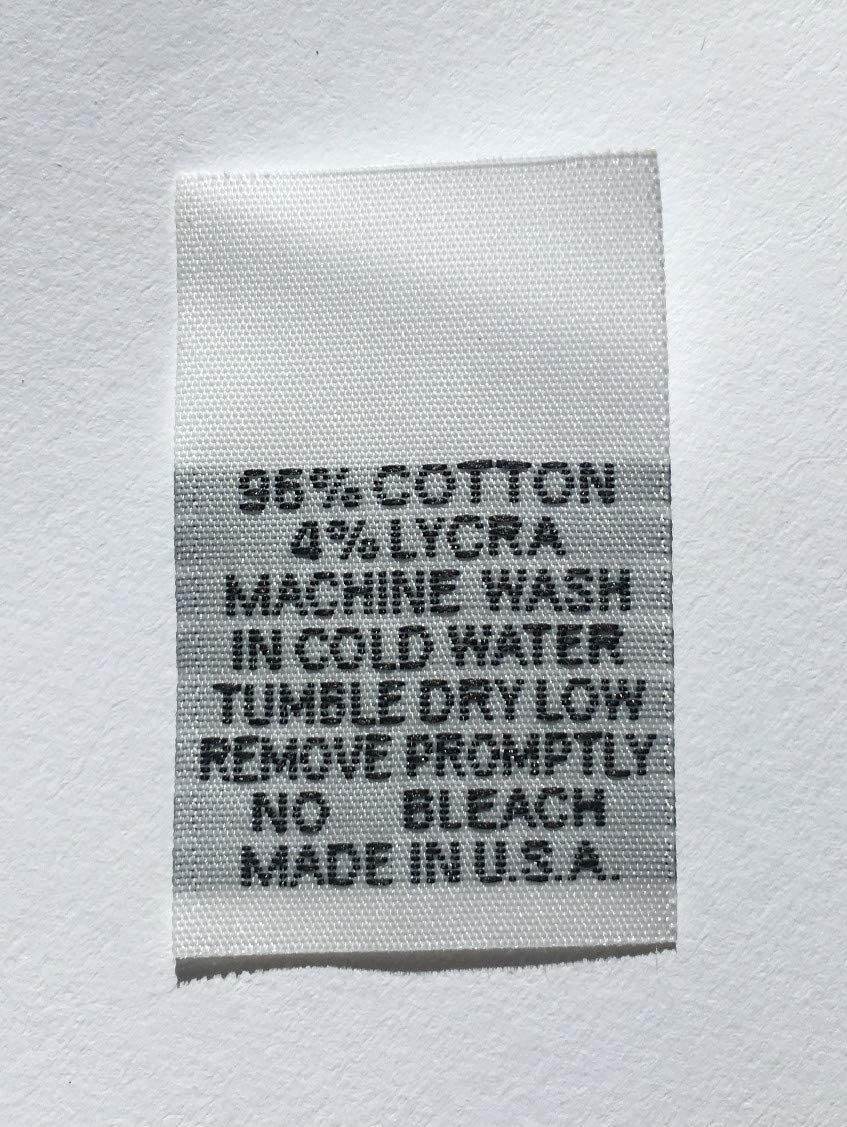 50 pcs White Woven Clothing Sewing Care Label Professional Dry Clean Only