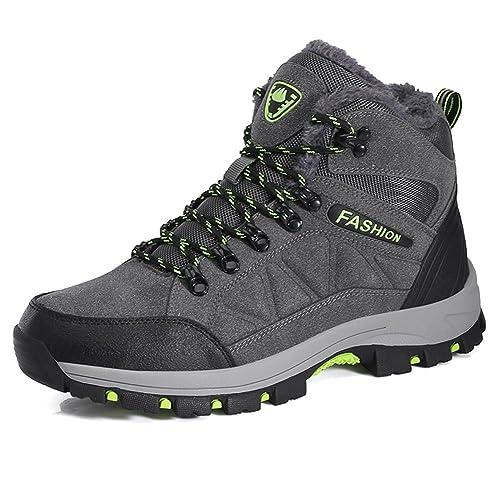 check out 74d50 bce97 BomKin Herren Damen Wanderschuhe Wasserdicht Trekking Winterschuhe Warm  Gefüttert Winter Boots Schneestiefel Plateau Sneakers Schuhe