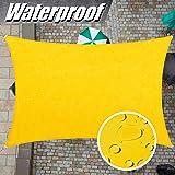 ColourTree 7' x 12' Yellow Rectangle Waterproof Sun