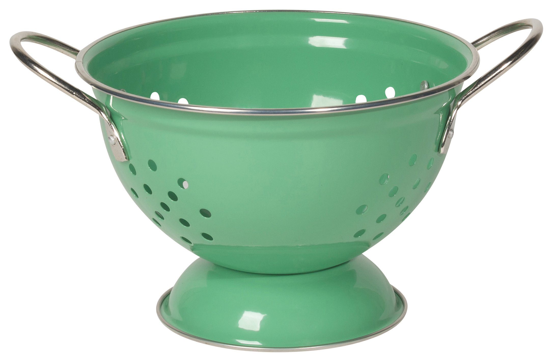 Now Designs Metal Colander, 1-Quart, Greenbriar Green