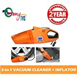 myTVS 433340 2-in-1 Vacuum Cleaner and Tyre Inflator (Orange)