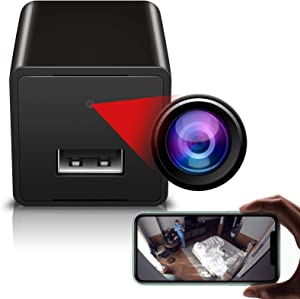 Wireless Wi-Fi Camera, 1080p Hidden Spy Camera Charger, USB Charger Camera, Motion Detection Cam, Remote Phone Control