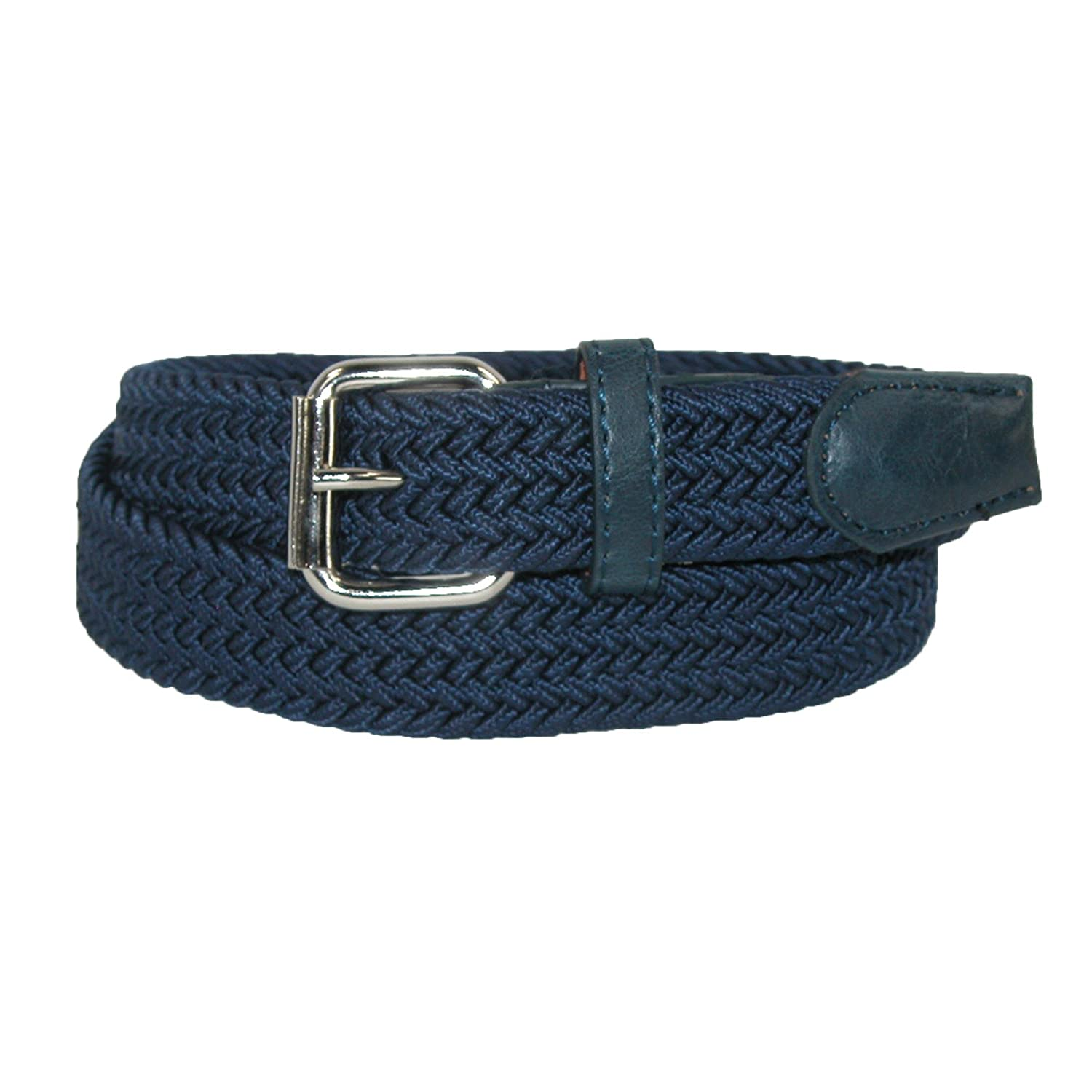 CTM Kids' Elastic Braided Stretch Belt