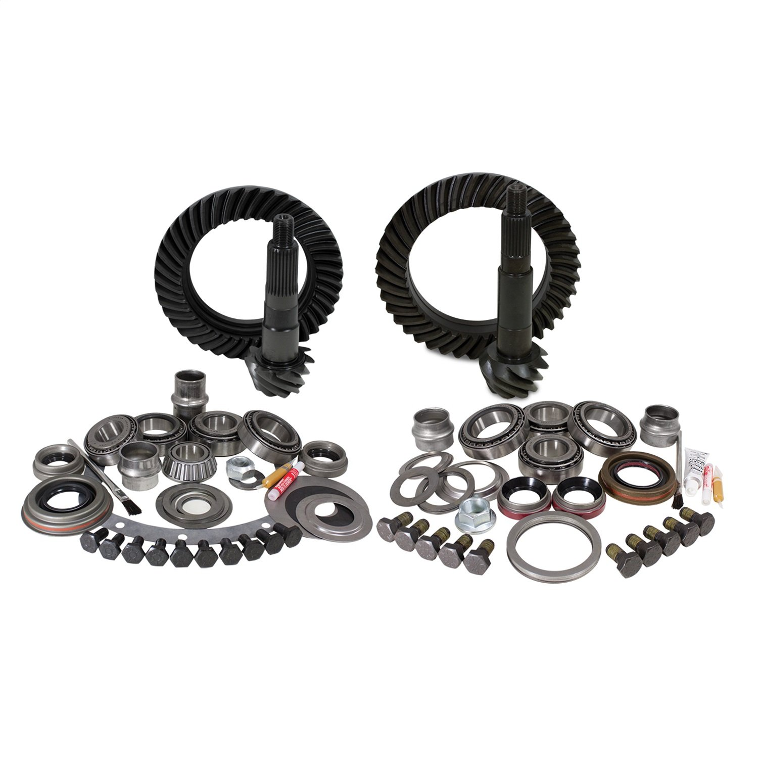 Yukon Gear & Axle (YGK007) Install Kit for Jeep TJ Dana 30 Front Dana 44 Rear, 4.56 Ratio)