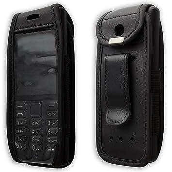 caseroxx Bolsa de Cuero con Clip para el cinturón para Nokia ...