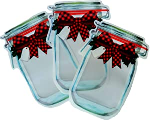 Holiday Food Cookie Gift Bags Sealable (12ct Package, Red Buffalo Plaid)