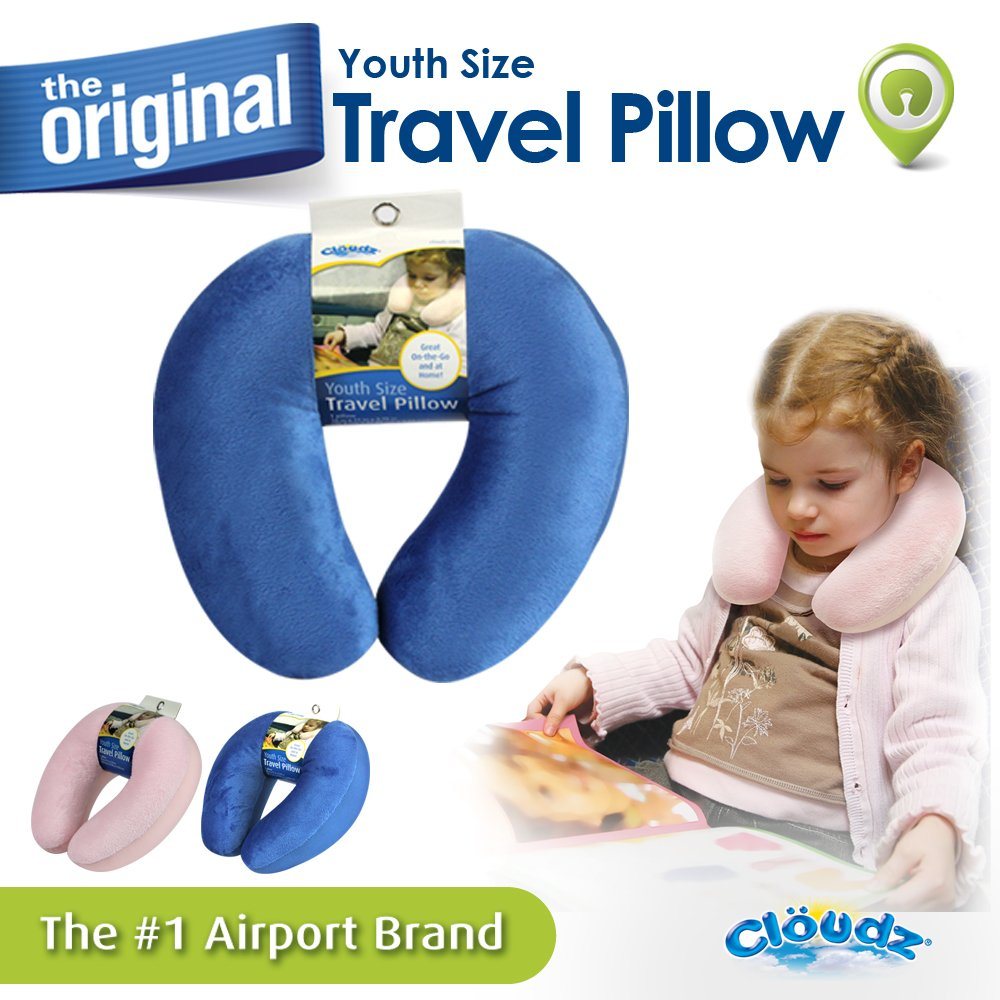 Cloudz Kids Travel Neck Pillow - Blue