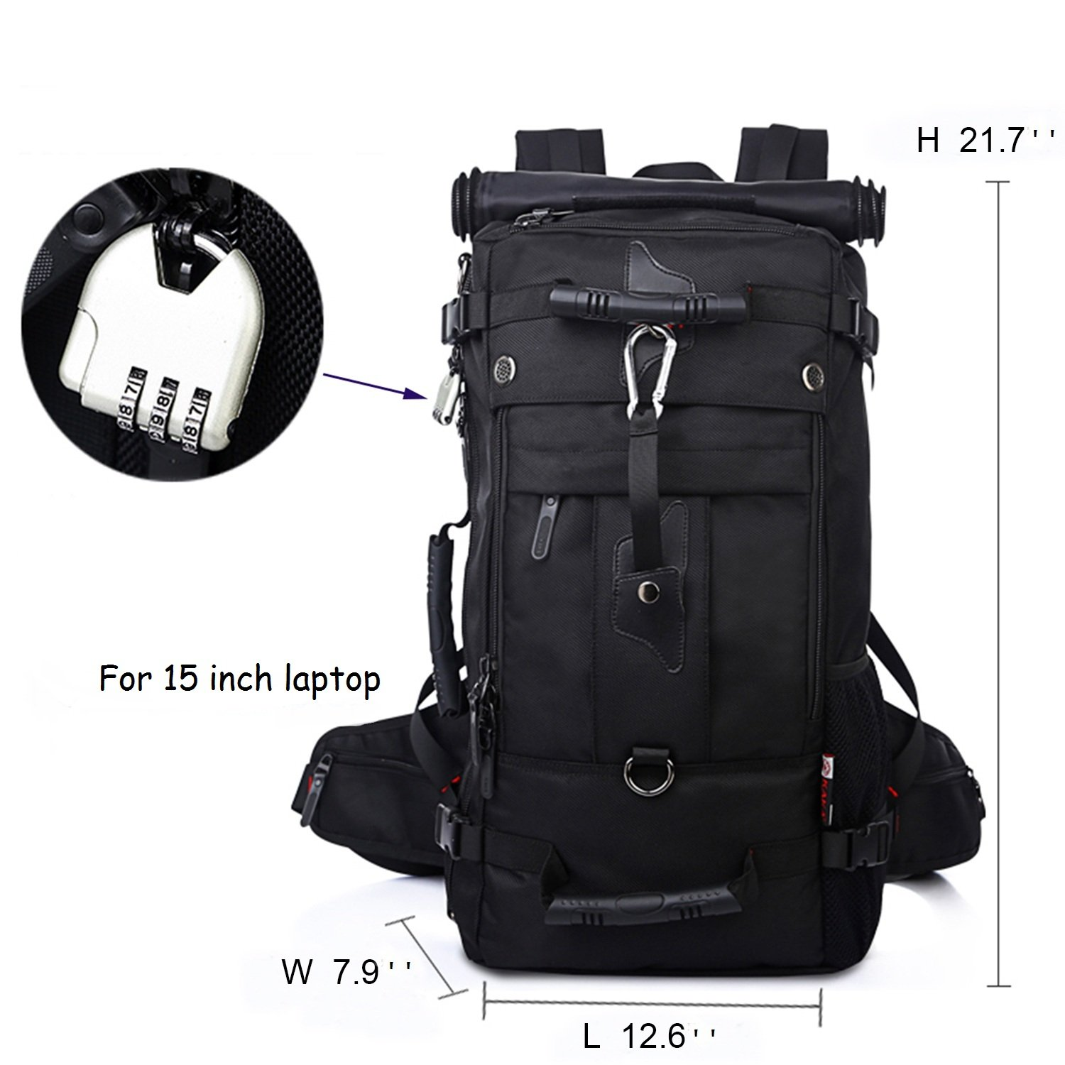 Travel Mountaineering Backpack Climbing Camping Hiking Knapsack Tactical Daypack Weekender Overnight Bag for Men Women