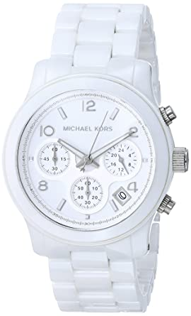 2c1467b0756a5 Image Unavailable. Image not available for. Color  Michael Kors Ceramic  White Watch MK5161
