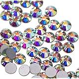 Jollin Flatback Strass Vetro Cristallo Artificiale Gemme Nail Art Diamante, Crystal AB, SS20 1440pcs