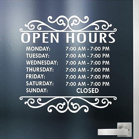 46133b88362 Amazon.com   Custom Business Hours Sign for Glass Door