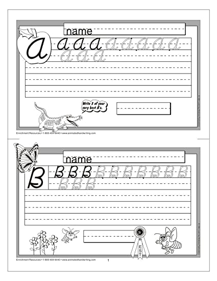 Counting Number worksheets letter trace worksheets : Amazon.com: Animated Handwriting - Modern Cursive: Video-assisted ...