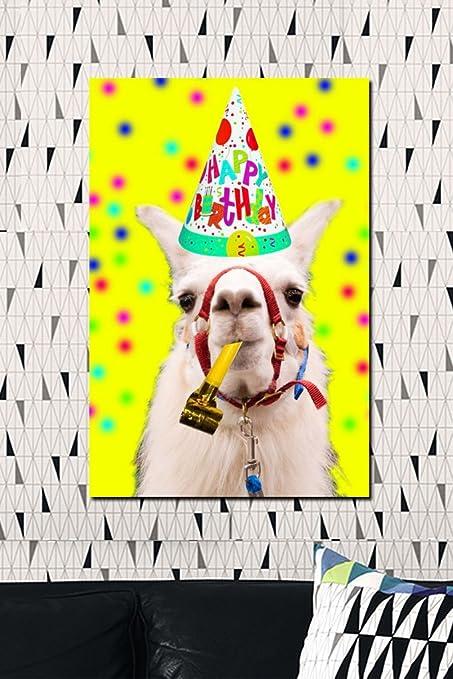 Amazon COLORSFORU Llama Birthday Custom Poster 20x30 Inch Wall