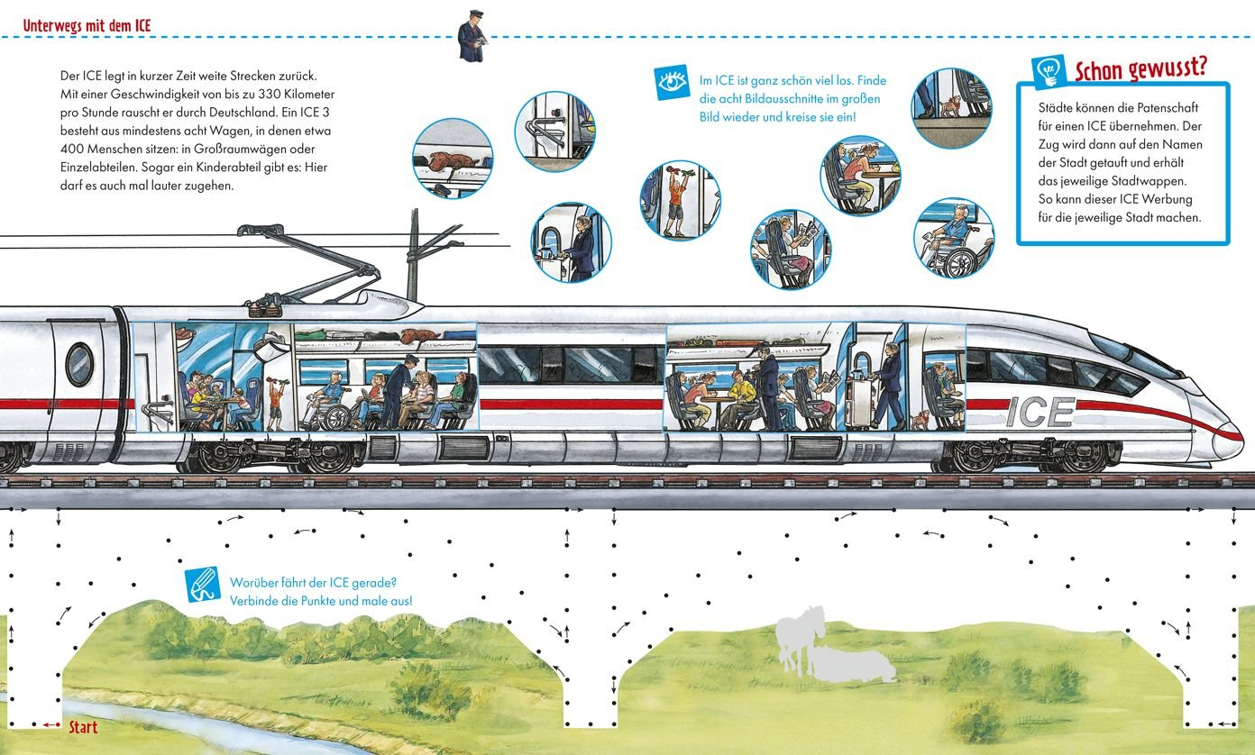 Mitmach Heft Eisenbahn Ausmalen Rätseln Begreifen Amazonde Max