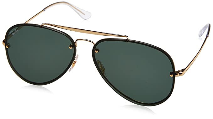 eac5a9f17 RAYBAN Unisex's 0RB3584N 905071 61 Sunglasses, Gold/Dark Green ...