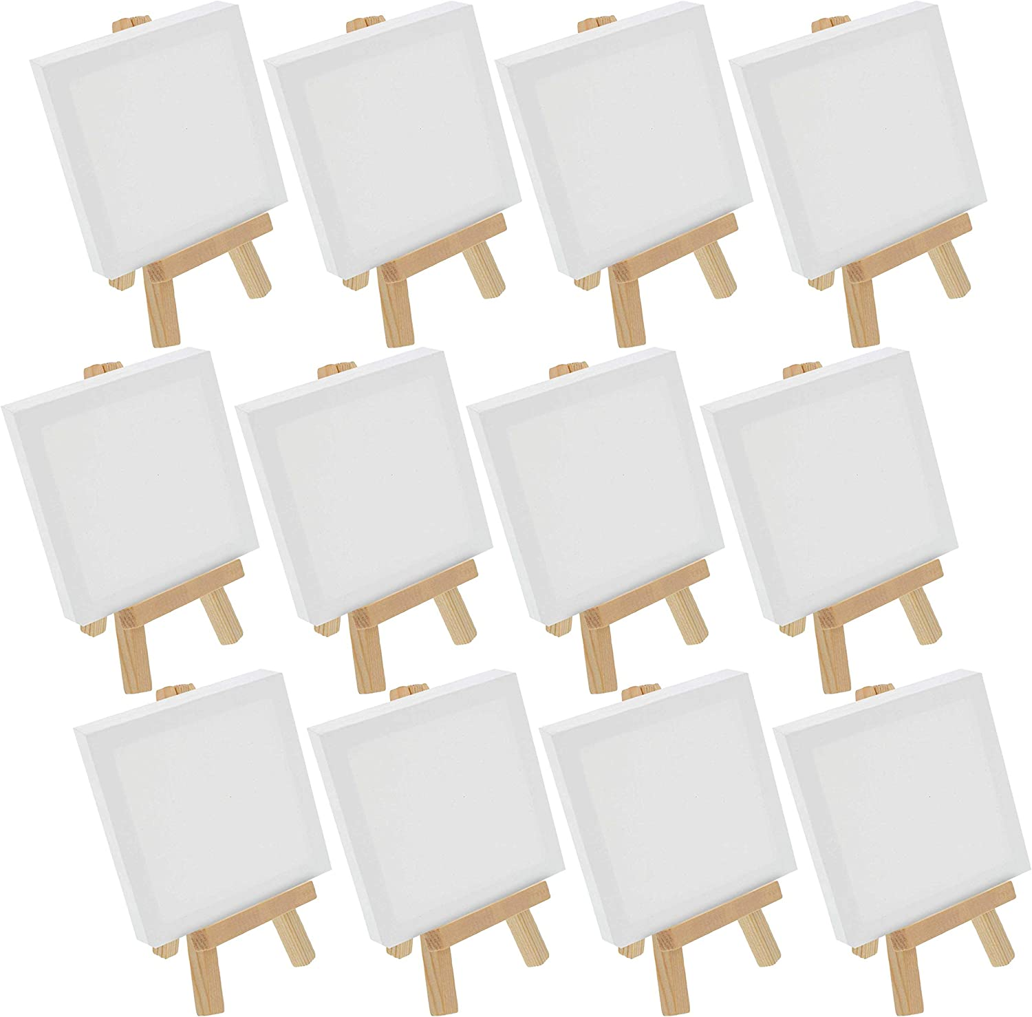 Mini Canvas and Mini Easel Kit 3 in Set of 12 x 3 in