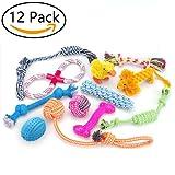 Giocattoli per cani 12 pacchetti Set regalo, corda a sfera di RoyalCare e masticare giocattoli scioccanti per cane da medio a piccolo