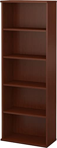 Bush Furniture Commerce 5 Shelf Bookcase in Autumn Cherry