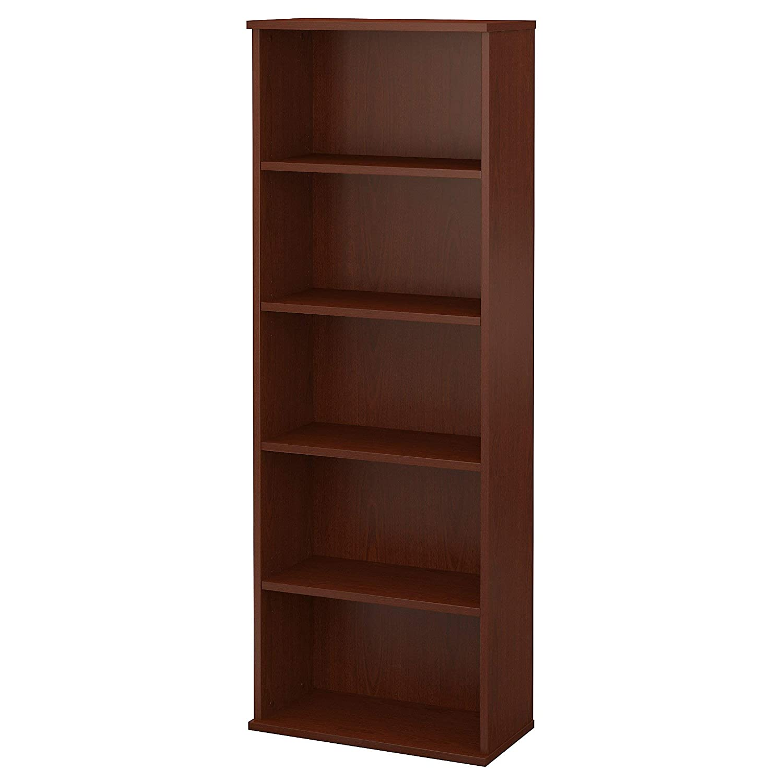 Bush Furniture Commerce 5 Shelf Bookcase in Autumn Cherry