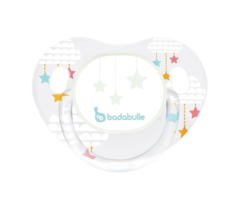 Badabulle B011220 Phosphoreszierende physiologische Schnuller wei/ß
