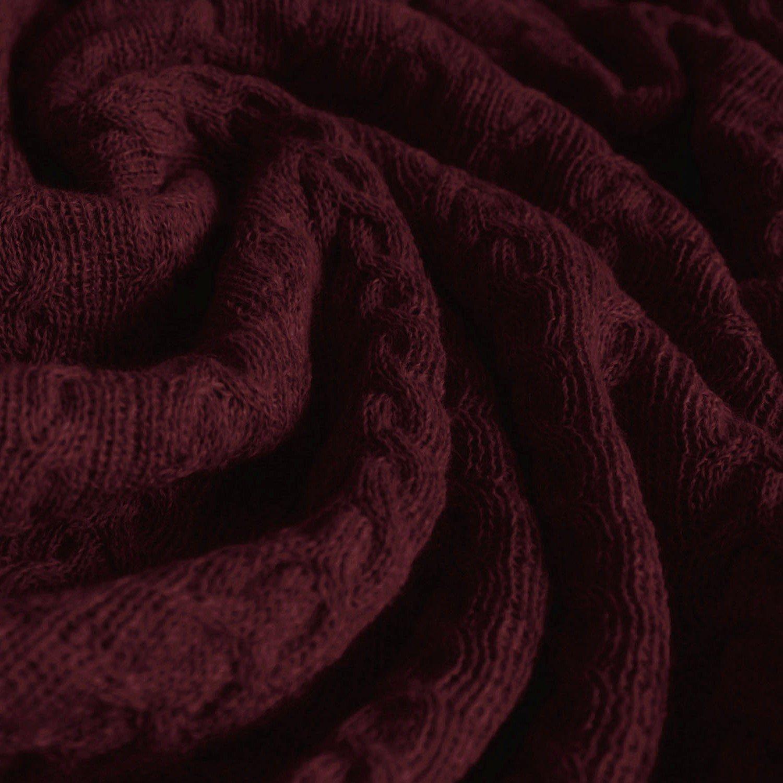 Lorenzo Cana voluminöse Luxus Alpakadecke aus 100% Alpaka - Wolle vom Baby - Alpaka Fair Trade Decke Wohndecke gestrickt Sofadecke Tagesdecke Kuscheldecke 9624677