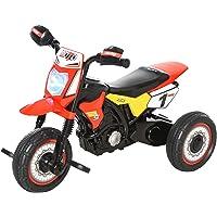 HOMCOM Moto Correpasillos Infantil para Niños de +18 Meses con Apariencia de Moto de Montaña con 3 Ruedas con Luces y…