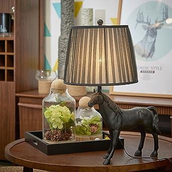 Retro Hoflichkeit Tischlampe Dunkles Pferd Schlafzimmer Nachttisch