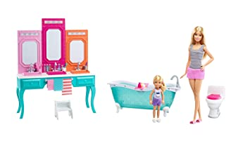 Barbie and Chelsea Vanity Bathroom Set / Barbie und Chelsea Vanity ...