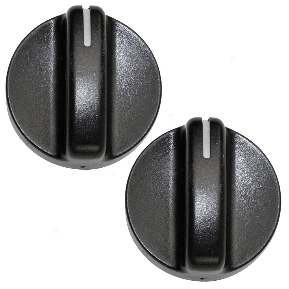Pair of A//C AC Heater Blower Fan Temperature Control Knobs Replacement for Dodge Pickup Truck 04882482