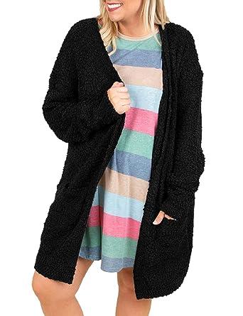Mafulus Womens Plus Size Cardigans Fleece Open Front Long Sleeve Fuzzy  Cardigan Sweaters at Amazon Women s Clothing store  694121fe3