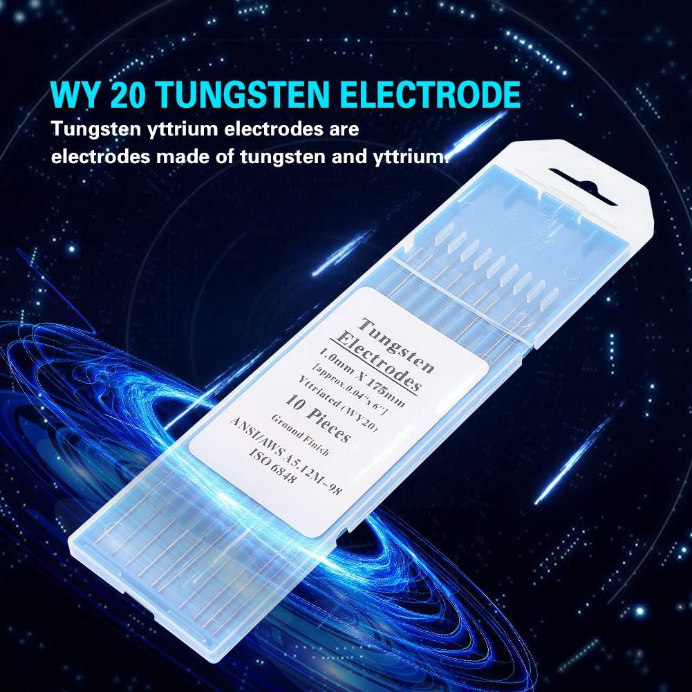 10pcs WY20 electrodo de tungsteno de itrio para la m/áquina de soldadura Tig 1.0mm /× 175mm