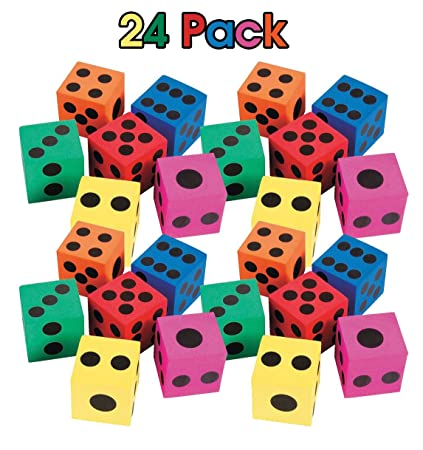 amazon com kidsco big foam dices pack of 24 1 5 square