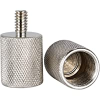 Neewer 2 Pieces Screw Thread Adapter 5/8-inch Female to 1/4-inch Male Durable Solid Nickel Brass for Camera Mounts Microphone Stands and LCD Monitors (NW-019-4)