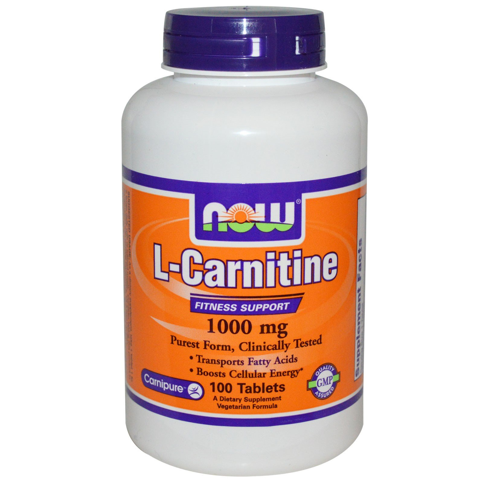Now Foods L-Carnitine 1000 mg - 100 Tabs 8 Pack