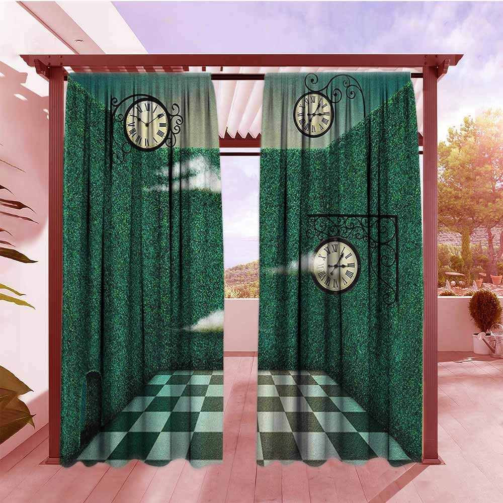 Amazon.com: Doorway Curtain Green Conceptual Stained Glass ...