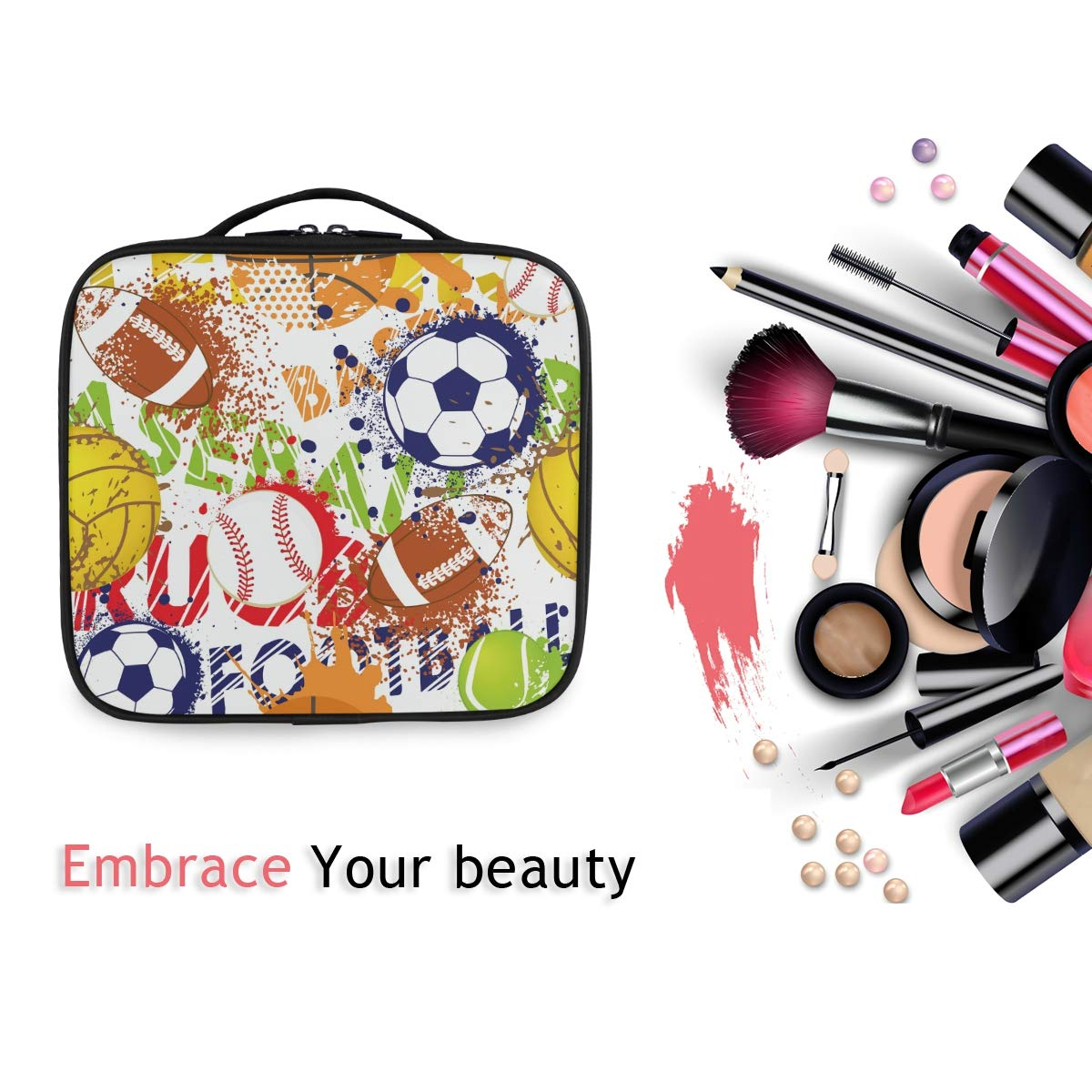 Bolsa de Maquillaje de Color para balón de béisbol y Rugby, Bolsa ...