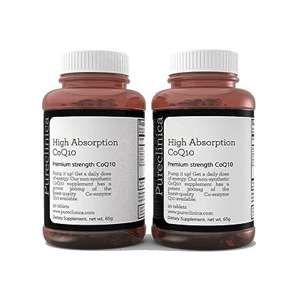 CoQ10 300mg x 180 comprimidos (2 frascos con 90 comprimidos cada uno – Suministro de