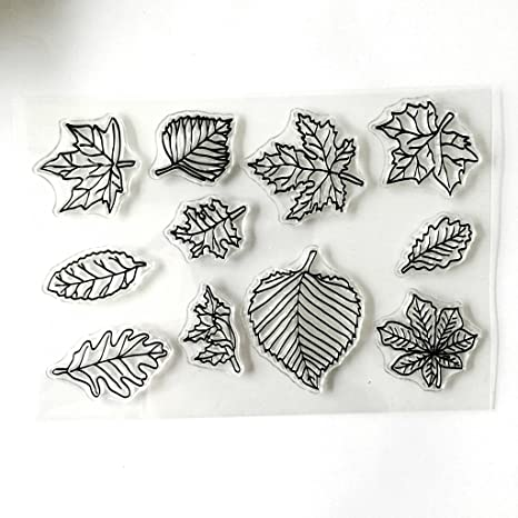 Transparent Silicone Clear Stamps Rubber Stamps Maple Leaf Stamp Card Making