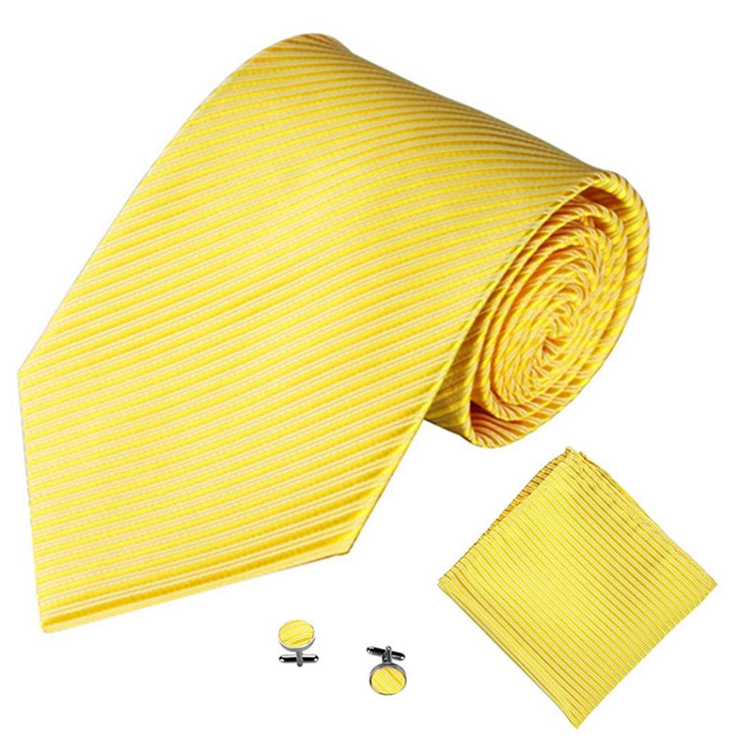 ZHOUBA - Corbata - para hombre Amarillo amarillo Talla única ...