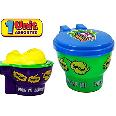 JA-RU Flarp Noise Putty Original Scented with New Gag Toilet Case (1 Unit) Stretchy Squishy Sound Slime Party Favors for Kids Goodie Bags Stuffers | Squish it to Make Gas Sounds | Item #333-1A: Toys & Games