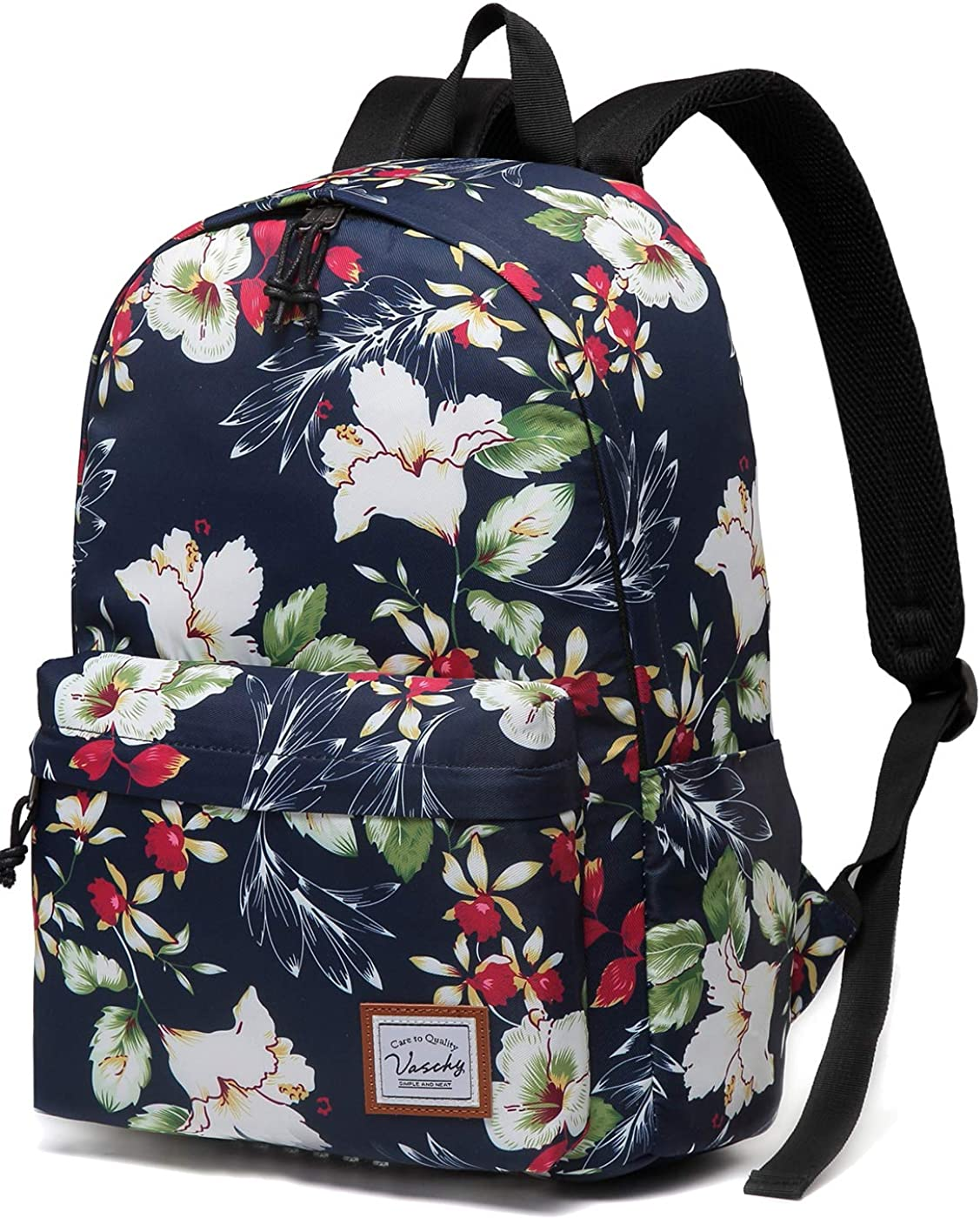 Laptop Backpack Lightweight Waterproof Travel Backpack Double Zipper Design with Blooming Garden Pattern School Bag Laptop Bookbag Daypack for Women Kids