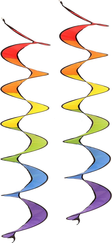 JoyCamp Rainbow - Spinner de viento para acampada (51 pulgadas, 2 unidades): Amazon.es: Jardín