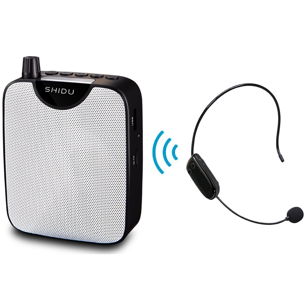 Mini Portable Voice Amplifier Rechargeable Pa System Speaker with UHF Compact Handheld Wireless Microphone Headset for Karaoke, Teachers, Tour Guides, Trainers SHIDU 4330238073