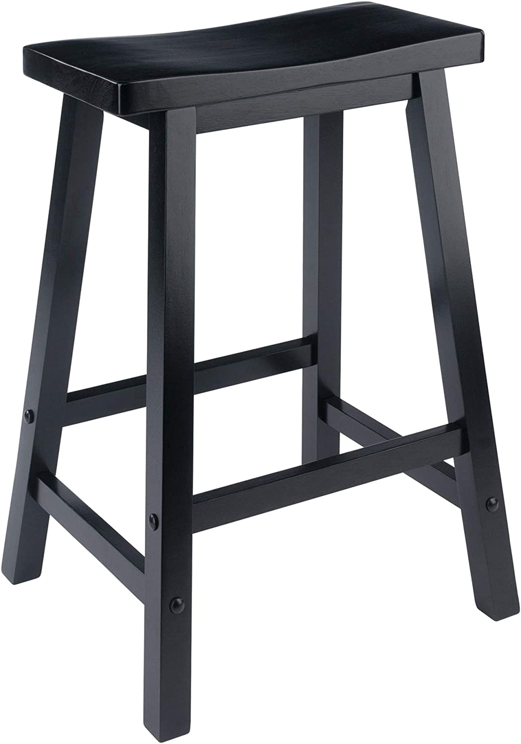 Winsome 20084 Satori Stool 24 Black Amazon Co Uk Kitchen Home