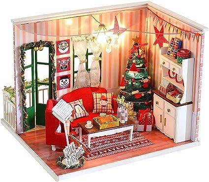 Hecho A Mano Casa de Muñecas en Miniatura Trineo